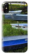 Boats In Marsh - Cape Neddick - Maine IPhone Case