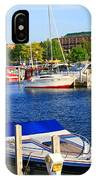 Boats On The Dock Traverse City IPhone Case
