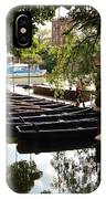 Boats On The Thames River Oxford England IPhone Case