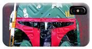 Boba Fett Star Wars Bounty Hunter Helmet Recycled License Plate Art IPhone Case