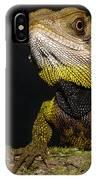 Bocourts Dwarf Iguana Choco Rainforest IPhone Case