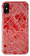 Bogota Street Map - Bogota Colombia Road Map Art On Color IPhone Case