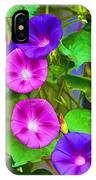 Bohemian Garden Morning Glory IPhone Case