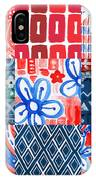 Boho Americana- Patchwork Painting IPhone Case