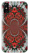 Tulips Kaleidoscope - Red And Green IPhone Case