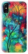 Bold Rich Colorful Landscape Painting Original Art Colored Inspiration By Madart IPhone Case
