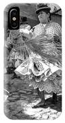 Bolivian Dance Framed Black And White IPhone Case