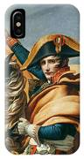 Bonaparte Crossing The Alps Oil On Canvas Detail Of 18491 IPhone Case