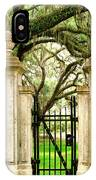 Bonaventure Cemetery Gate Savannah Ga IPhone Case