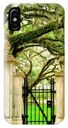 Bonaventure Gate Savannah Ga IPhone Case
