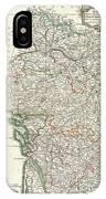 Bonne Map Of Poitou Touraine And Anjou France IPhone Case