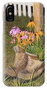Boots In Bloom IPhone Case