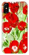 Bordered Red Tulips IPhone Case