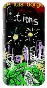 Borges Fictions Poster  IPhone Case