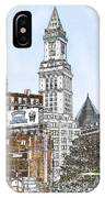 Boston Custom House Tower IPhone Case