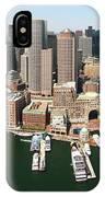 Boston Harbor And Boston Skyline IPhone Case