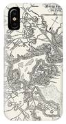 Boston: Map, 1775-1776 IPhone Case