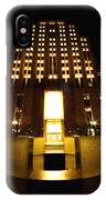 Boston - Night At Post Office Square IPhone Case
