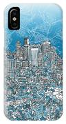 Boston Panorama Abstract 2 IPhone Case