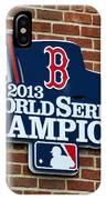 Boston Red Sox World Champions IPhone Case
