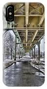 Boston Streetcar Overpass-cambridge V2 IPhone Case