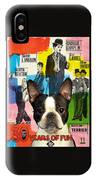 Boston Terrier Art - 30 Years Of Fun Movie Poster IPhone Case