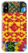 Botanic Gardens In Recycled Math Books IPhone Case
