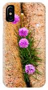 Botanica Series - Flowers In The Crack IPhone Case