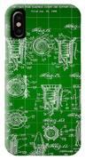 Bottle Cap Patent 1892 - Green IPhone Case