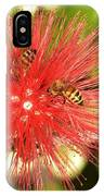 Powder Puff Flower With Bees IPhone Case