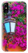 Bougainvillea And Lamp, Mexico IPhone Case