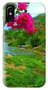 Bouganvilla Watches Over Village Fishing Boats IPhone Case