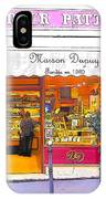 Boulangerie Patisserie In Paris IPhone Case