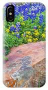 Boulder And Bluebonnets IPhone X Case