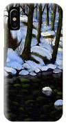 Boulder Brook In Winter IPhone Case