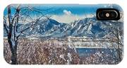 Boulder Colorado Winter Season Scenic View IPhone Case
