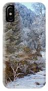Boulder Creek Winter Wonderland IPhone Case