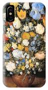 Bouquet In A Clay Vase IPhone Case
