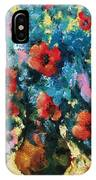 Bouquet In Blue IPhone Case