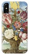 Bouquet Of Flowers On A Ledge IPhone Case