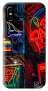 Bourbon St. Neon - Nola IPhone Case