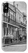 Bourbon Street Afternoon - Paint Bw IPhone Case