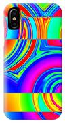 Boxed Rainbow Swirls 1 IPhone Case