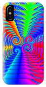 Boxed Rainbow Swirls 2 IPhone Case