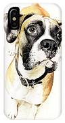Boxer Dog Poster IPhone Case