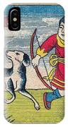 Boy With Dog Ducks Hunting. Bow And Arrow. Landscape. Matches. Match Book Antique Matchbox Cover. IPhone Case