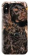 Boykin Spaniel Portrait IPhone X Case