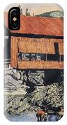 Boys And Covered Bridge IPhone Case