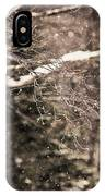 Branch In Forest In Winter IPhone Case
