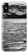 brash sea ice forming in front of glacier wall face port lockroy Antarctica IPhone Case
